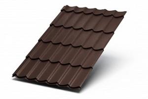 Металлочерепица Монтеррей 0.45 мм Полиэстер RAL 8017 (Шоколад)