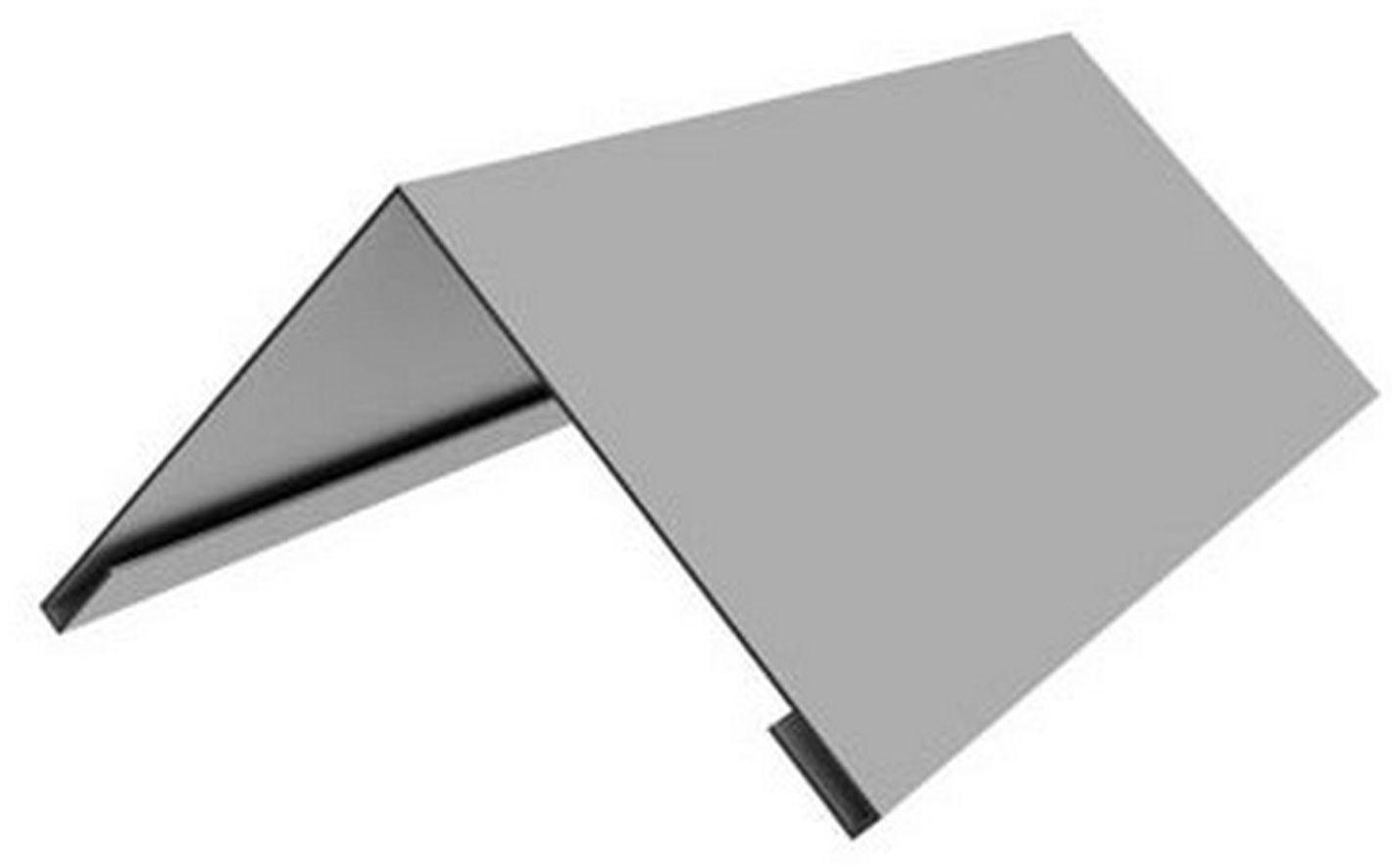Планка конька плоского 198х198х2000 мм (цена за шт)
