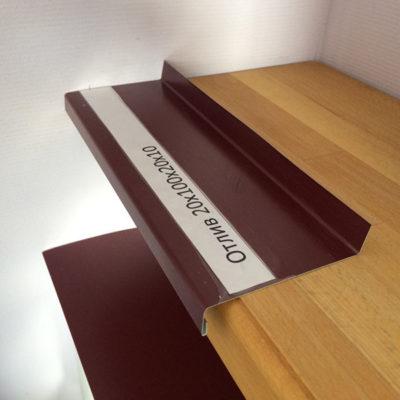 Отлив для фундамента и цоколя 1250х110 мм из полимера