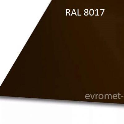 Лист оцинкованный окрашенный 0.5 мм (50-299 м.п.) Ral 8017